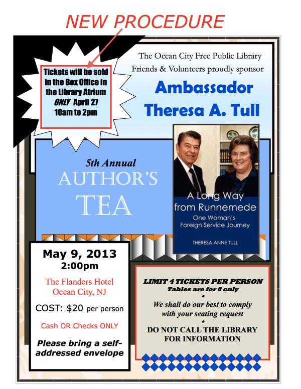 Author Tea Flyer